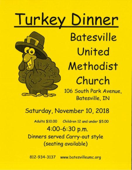 Turkey Dinner - Batesville United Methodist