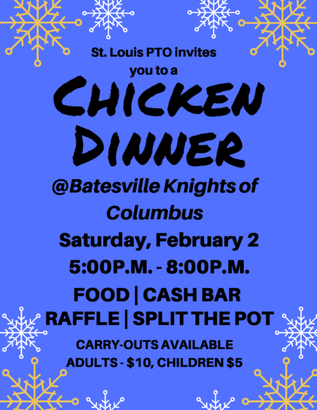 St. Louis PTO Chicken Dinner