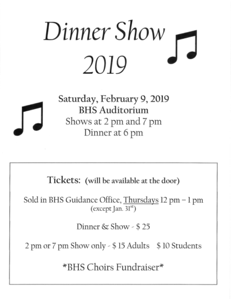 BHS Choirs Dinner Show