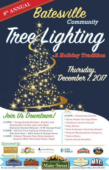 8th Annual Community Tree Lighting Celebration @ Downtown