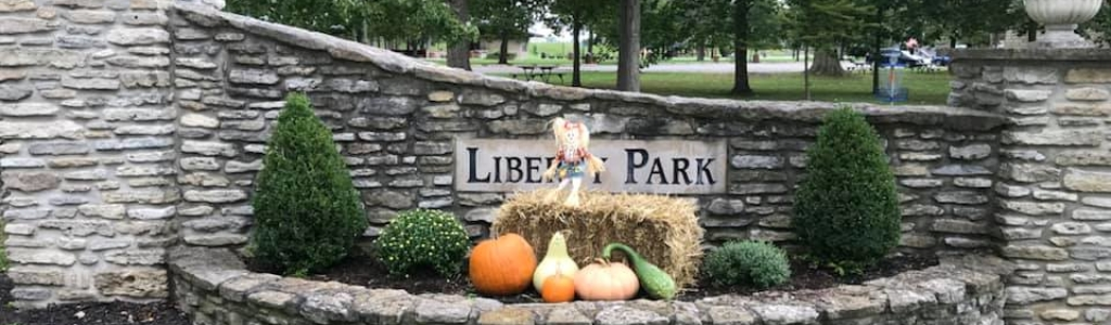 Fall Park Entry sign