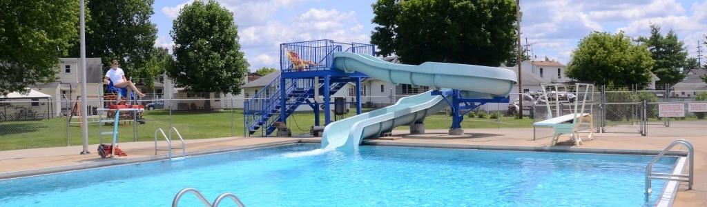 Memorial Pool Slide-Dive Area