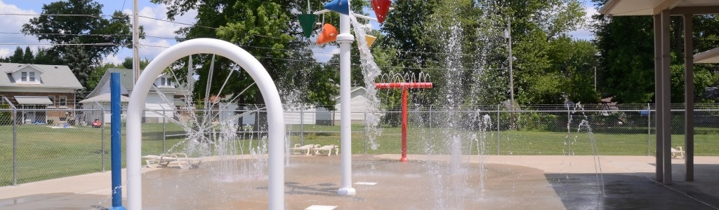 Memorial Pool Splash Pad Area