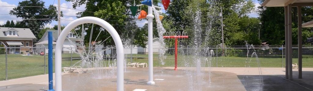 Memorial Pool Splash Pad Area