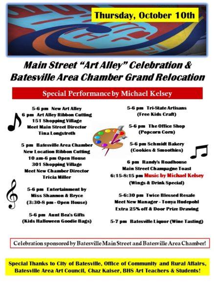 Main Street Art Alley Celebration & Chamber Relocation