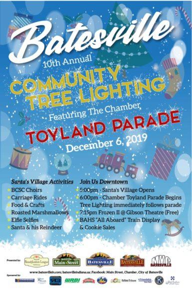 Community Tree Lighting & Chamber Toyland Parade @ Downtown