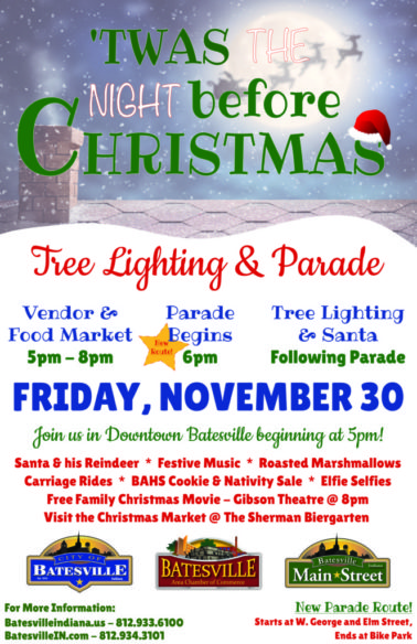'Twas the Night Before Christmas-Parade & Tree Lighting @ Downtown