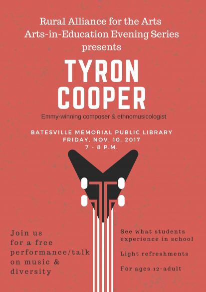 RAA Presents Tyron Cooper @ Batesville Memorial Public Library