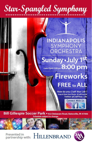 Batesville's Star Spangled Symphony @ Gillespie Soccer Complex | Batesville | Indiana | United States