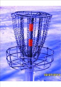 blue disc basket