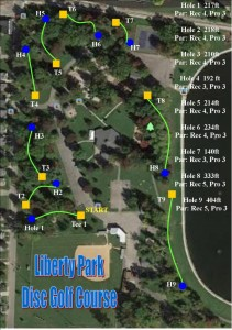 disc golf layout