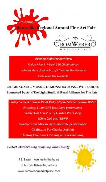 Batesville Regional Fine Arts Fair @ Romweber Marketplace