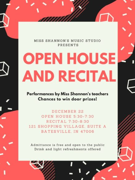 Open House & Recital at Miss Shannon's Music Studio